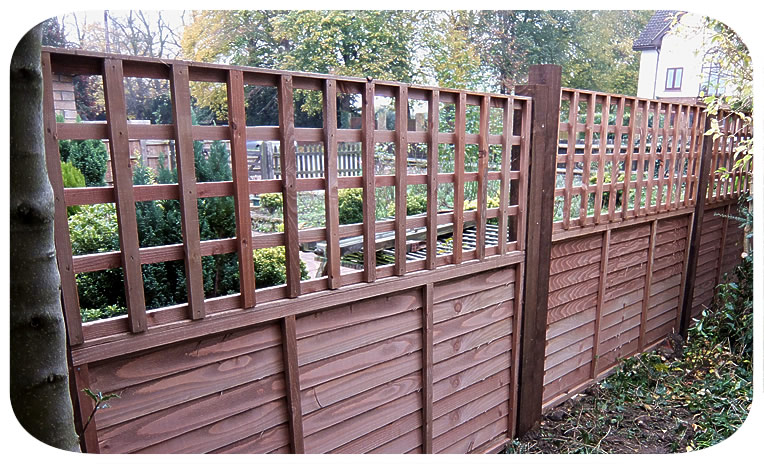 Larch fencing— click picture to return to gallery
