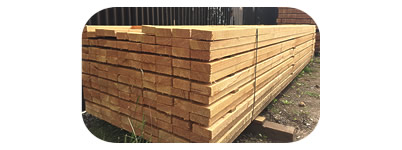 Larch post and rail fencing