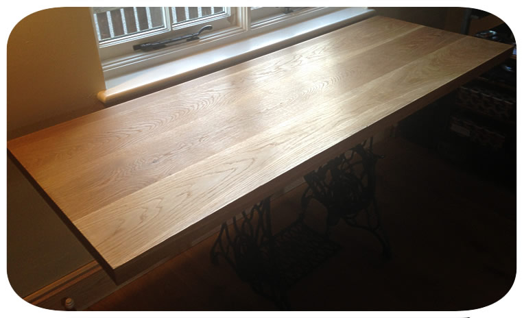 oak tabletop— click picture to return to gallery