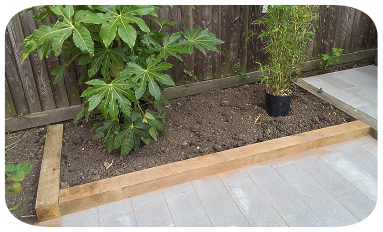 Raised oak bed— click picture to return to gallery